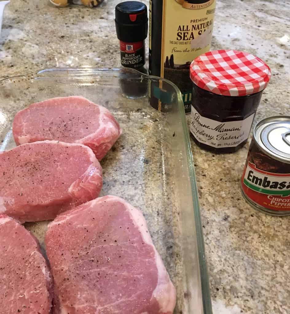 Raspberry pork chops ingredients